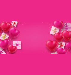 holiday background realistic heart shaped vector image