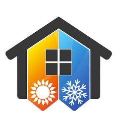 Home air conditioner symbol vector