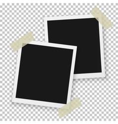 Instant photo vintage photo frame mockup vector