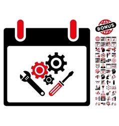 Instrument Tools Calendar Day Flat Icon vector