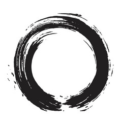 japanese enso zen black ink logo art design vector image