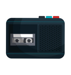 Journalist recorder isolated icon vector