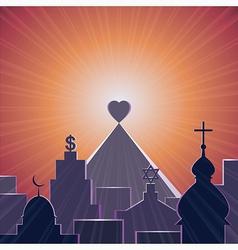 Love is my religion vector