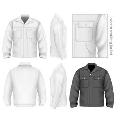 Men work jacket vector image