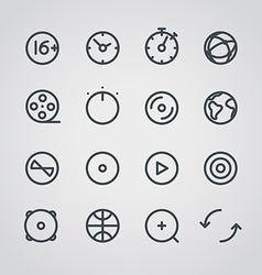 Modern media web icons collection vector