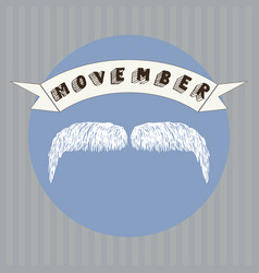 Mustache and movember vector