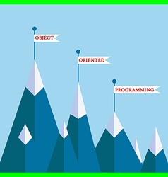 OOP mountains vector