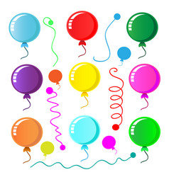 party balloon on white background vector image
