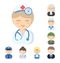 People different professions cartoon icons in vector