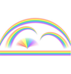 Rainbows in different shape vector