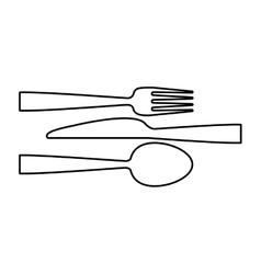 Restaurant cutlery utensils vector image