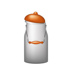 Retro aluminum can with a lid vector