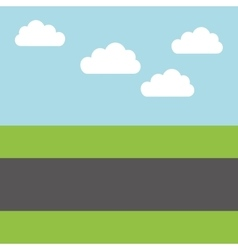 Road landscape isolated icon vector