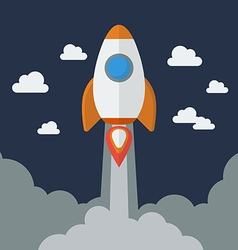 Rocket Flat Design vector image