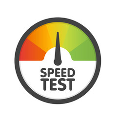 Round speedometer speed test download template vector