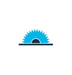 sawmill icon colored symbol premium quality vector image