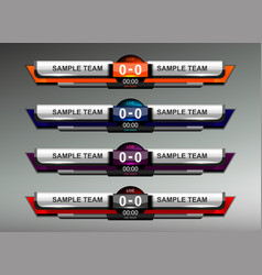 scoreboard design elements vector image