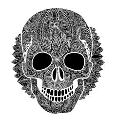 Skull tatoo day of the dead vector