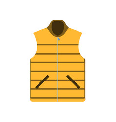 sleeveles jacket vest fashion icon isolated sign vector image