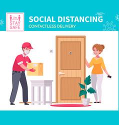 social distancing poster vector image