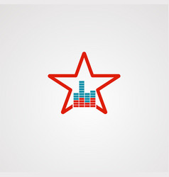 sound star logo icon element and template for vector image