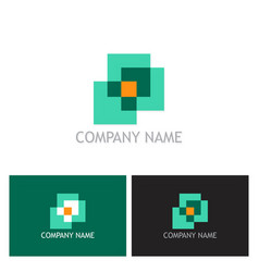 square abstract logo vector image