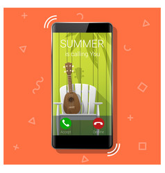summer is calling you season concept background vector image