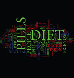 The positives and negatives of diet pills text vector