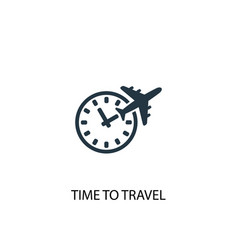 time to travel icon simple element vector image
