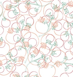 Tomatoes pattern vector