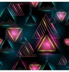 triangle seamless pattern geometric background vector image