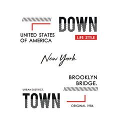 typography downtown new york vector image