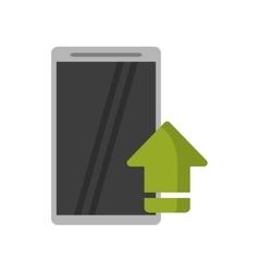 Upload arrow of digital concept vector