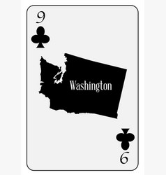 usa playing card 9 clubs vector image