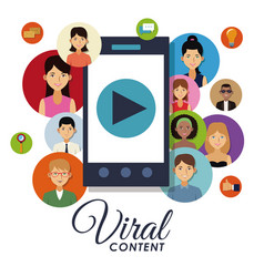 Viral content and social networks vector