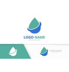 Water drop logo combination pure spa vector