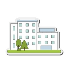 white building icon vector image vector image