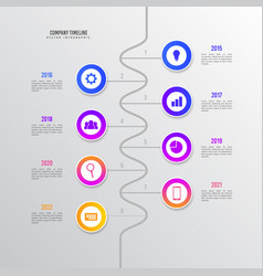 white business timeline infographic design vector image