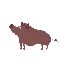 Wild boar personage vector