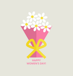 Womens day greeting card vector
