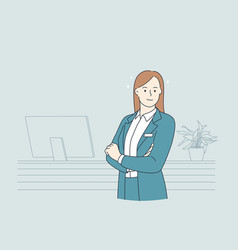 working in hotel concept vector image