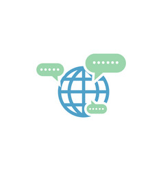 world chat logo vector image