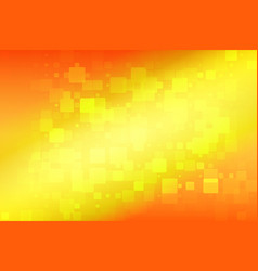 Yellow red orange glowing various tiles background vector