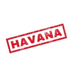 Havana rubber stamp vector