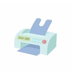 Printer icon in cartoon style vector image vector image