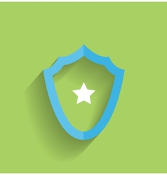 protection shield flat icon vector image
