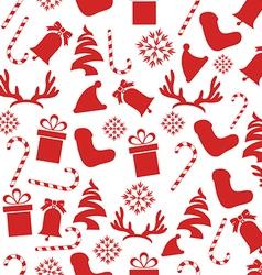 Seamless Vintage Christmas Pattern vector image