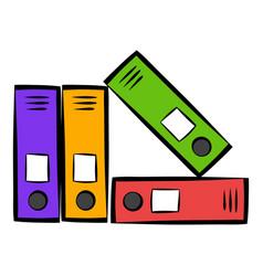 bright office folders icon icon cartoon vector image