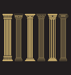 elegant classic roman greek architecture line and vector image