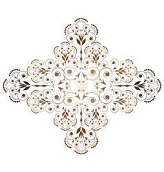 ornamental vignette vector image vector image